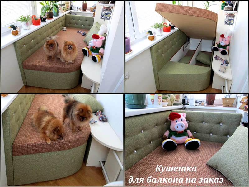 Изготовление дивана по индивидуальному проекту для балкона..