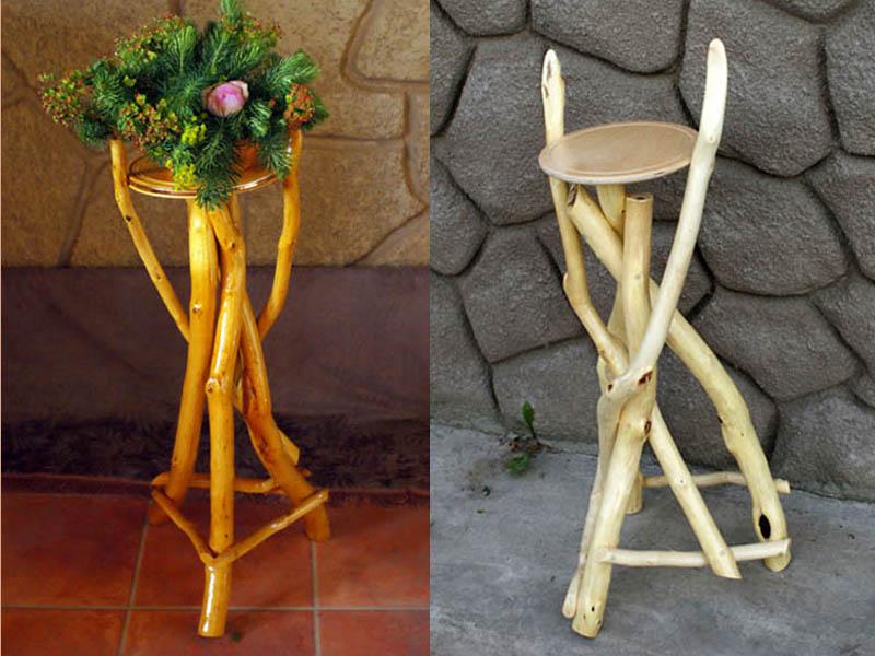 Подставки для цветов своими руками из дерева