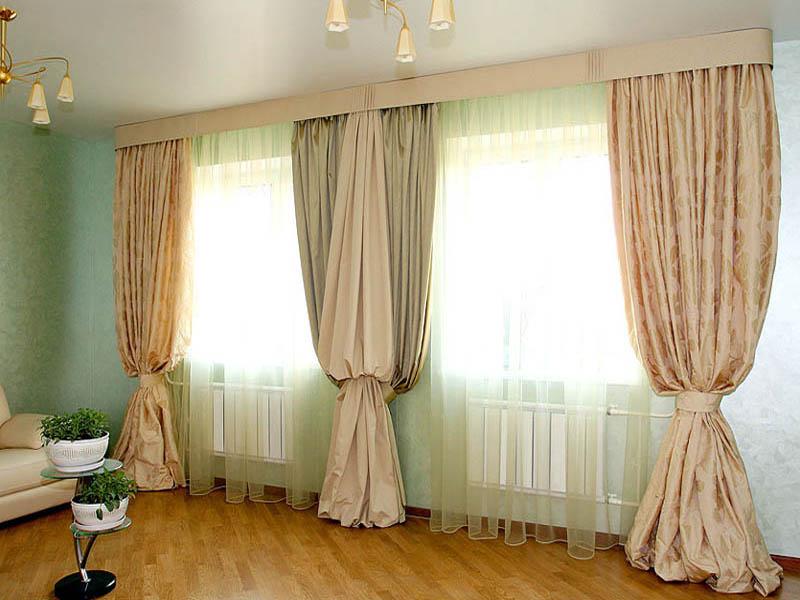 Тюль на два окна фото