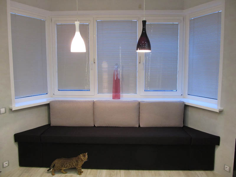 Эркерный диван на кухню своими руками 66