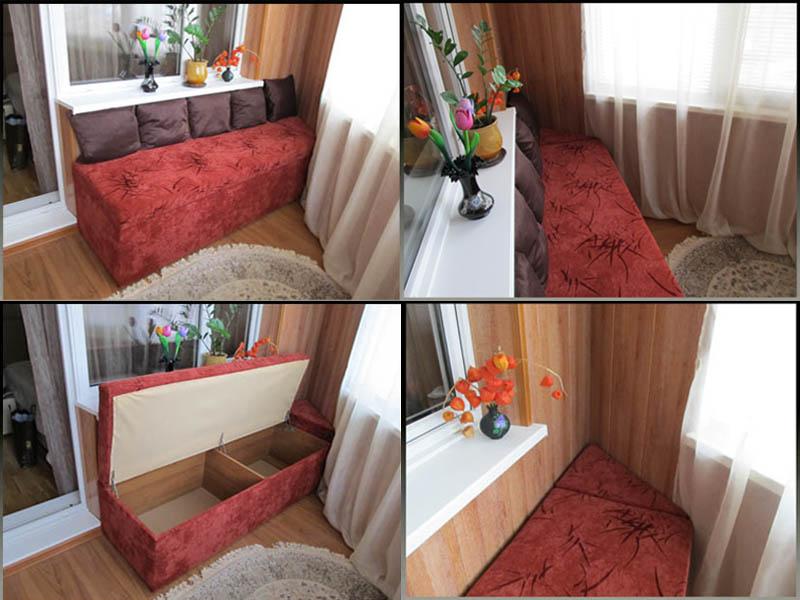Как сделать диван на лоджии..