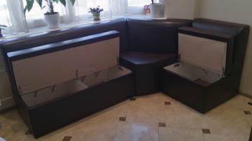 Эркерные диваны с ящиками