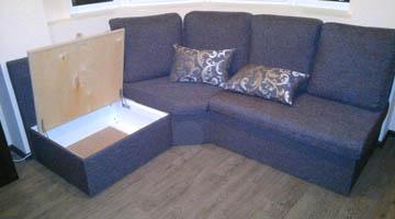 Эркерный диван по индивидуальному проекту