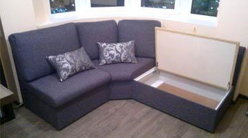 Эркерный диван по индивидуальным размерам
