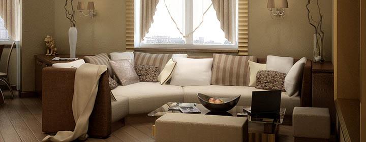Эркерный диван для гостиной и столовой