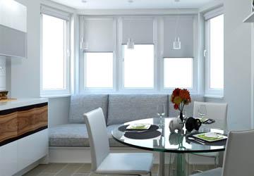 Эркерные диваны для кухни