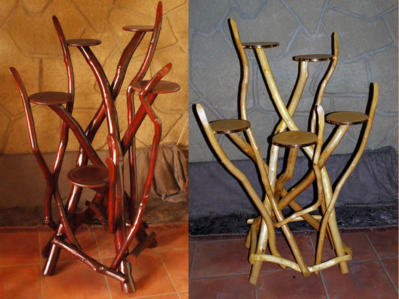 Напольные подставки для цветов из дерева своими руками